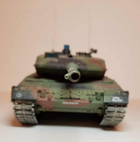 Model of Leopard 2A6M - Front View 2 - 1/35 Scale - Built By Wright Built - Revell Models