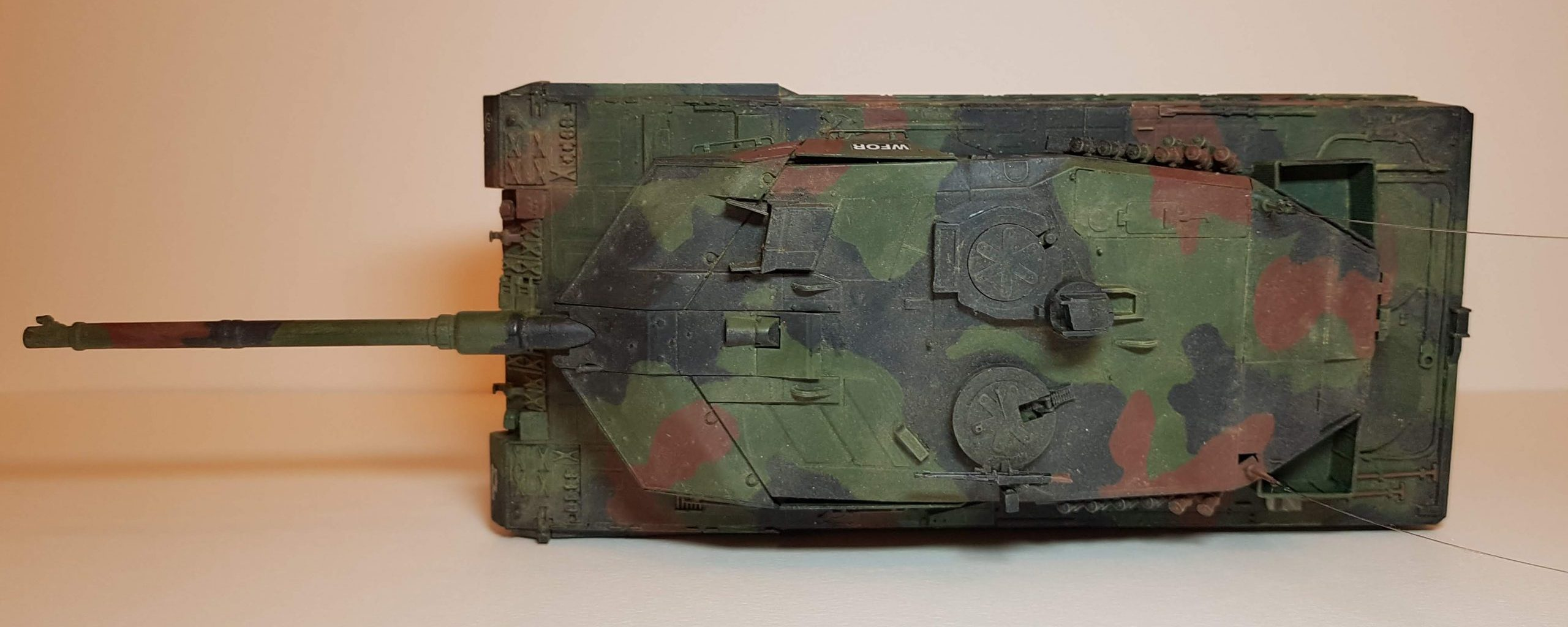 Model of Leopard 2A6M - Top View - 1/35 Scale - Built By Wright Built - Revell Models