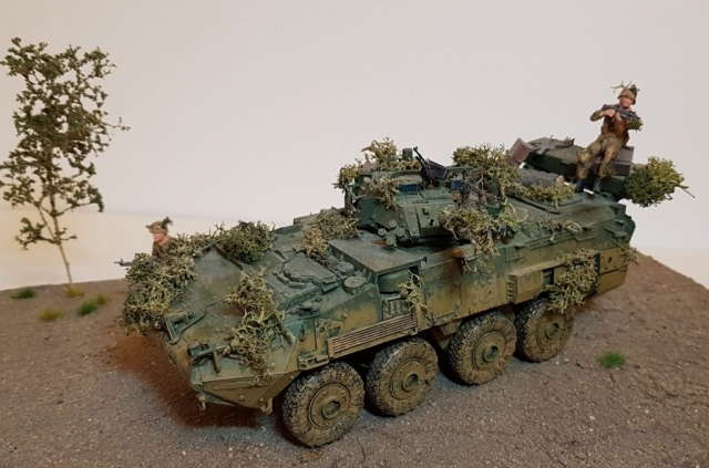 Model of LAV 3/III - Angle View - 1/35 Scale - Built By Wright Built - Trumpeter Models