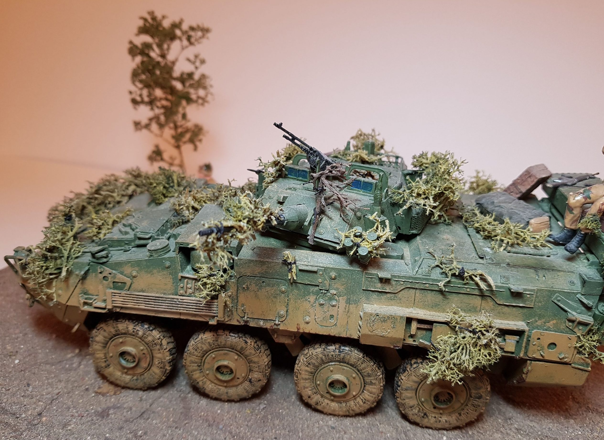 Model of LAV 3/III - Angle View 2 - 1/35 Scale - Built By Wright Built - Trumpeter Models
