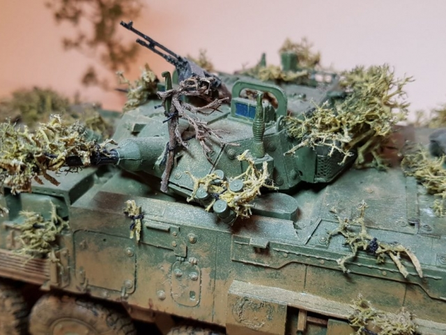 Model of LAV 3/III - Turret View - 1/35 Scale - Built By Wright Built - Trumpeter Models
