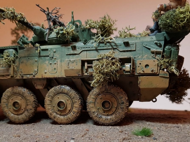 Model of LAV 3/III - Rear Side View - 1/35 Scale - Built By Wright Built - Trumpeter Models