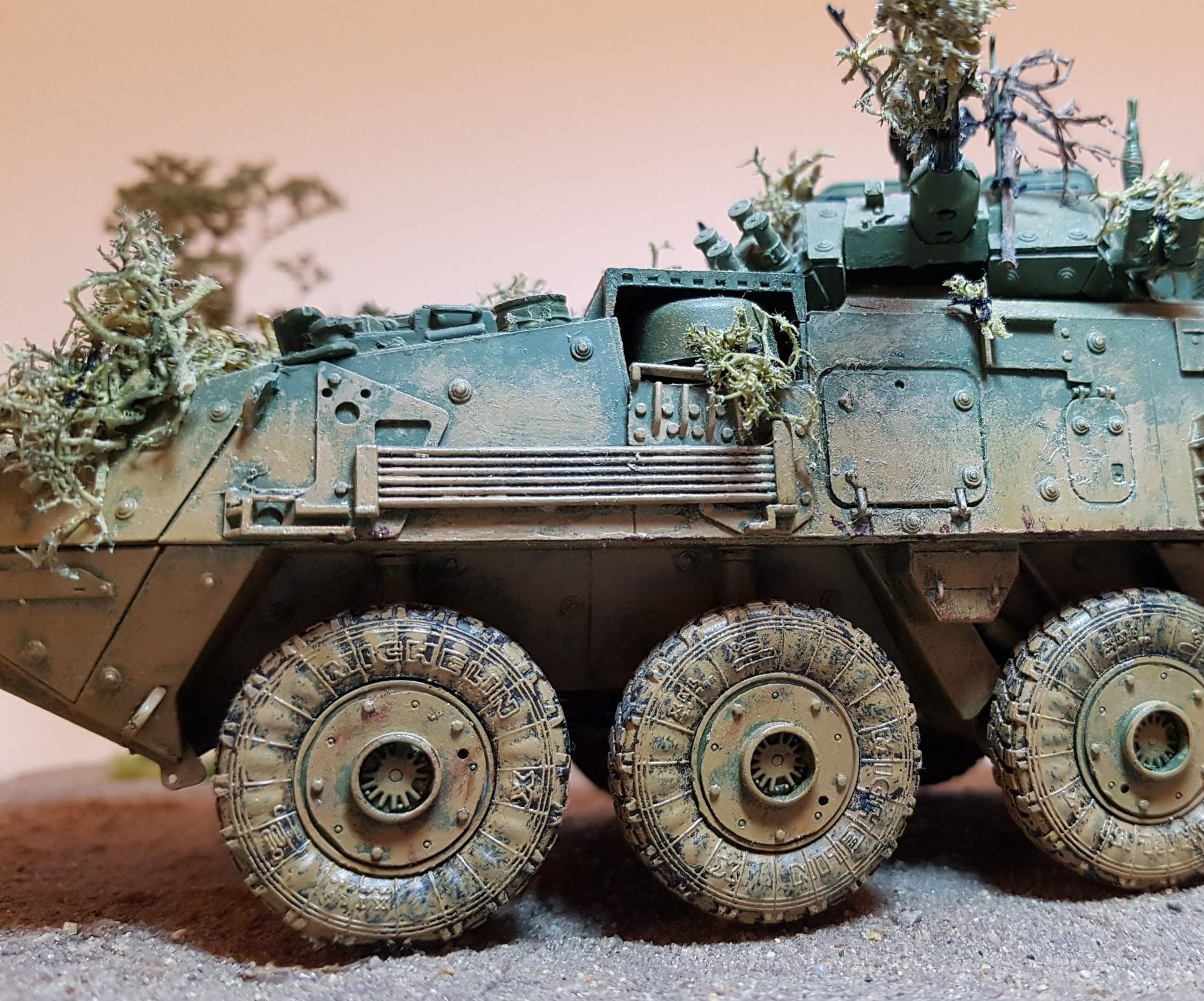 Model of LAV 3/III - Front Side View - 1/35 Scale - Built By Wright Built - Trumpeter Models
