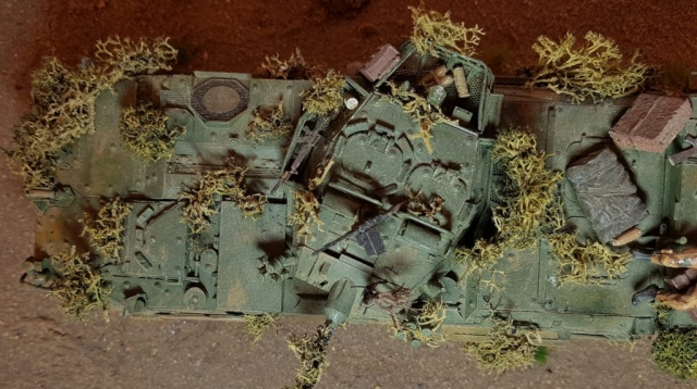 Model of LAV 3/III - Top View - 1/35 Scale - Built By Wright Built - Trumpeter Models