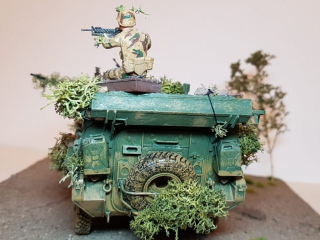 Model of LAV 3/III - Rear View - 1/35 Scale - Built By Wright Built - Trumpeter Models