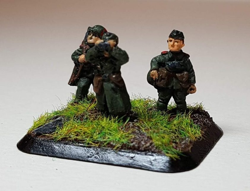 Model of Germans (WW2) - View 1 - 1/100 Scale (15mm) - Built By Wright Built - Battlefront Models (Flames of War)