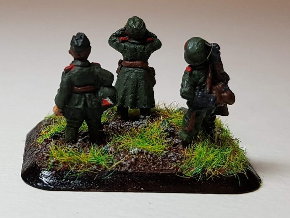 Model of Germans (WW2) - View 3 - 1/100 Scale (15mm) - Built By Wright Built - Battlefront Models (Flames of War)