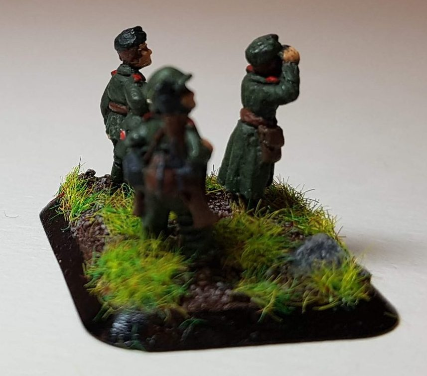 Model of Germans (WW2) - View 4 - 1/100 Scale (15mm) - Built By Wright Built - Battlefront Models (Flames of War)