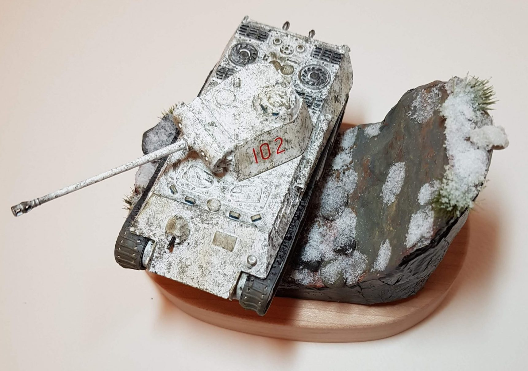 Model of Winter Panther Tank (WW2) - Top View - 1/76 Scale - Built By Wright Built - Airfix Models
