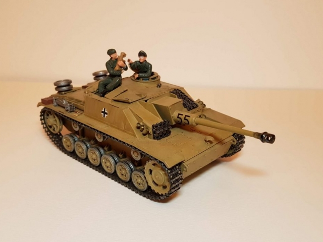 Model of StuG 3 (WW2) - Angle View - 1/35 Scale - Built By Wright Built - Tamiya Models