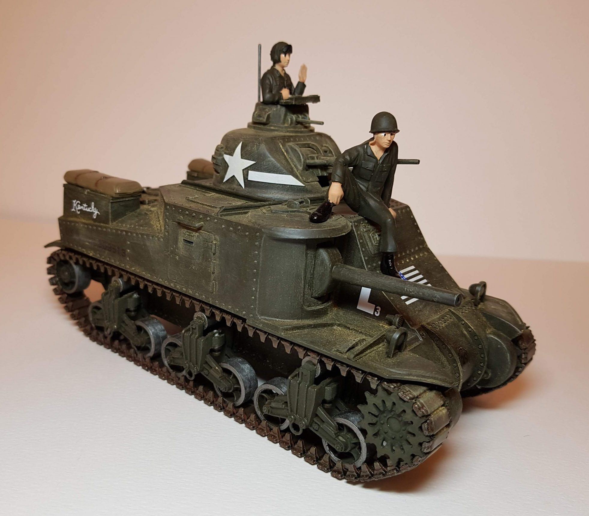 Model of M3 Lee (WW2) - Angle View - 1/35 Scale - Built By Wright Built - Revell Models