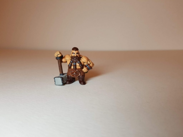 Painted Bjorn Steeleblood (Dwarf) - Front Angled View - 28mm Scale - 3D Printed By Wright Built on Sparkmaker FHD - Designed by Capritor (Thingiverse)