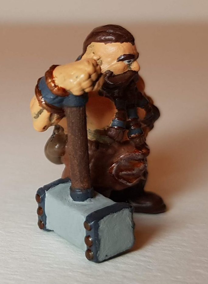 Painted Bjorn Steeleblood (Dwarf) - View 1 - 28mm Scale - 3D Printed By Wright Built on Sparkmaker FHD - Designed by Capritor (Thingiverse)
