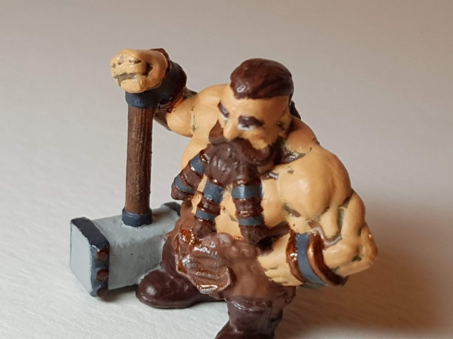 Painted Bjorn Steeleblood (Dwarf) - View 5 - 28mm Scale - 3D Printed By Wright Built - Designed by Capritor (Thingiverse)