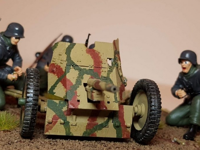 Model of Pak-36 (WW2) - View 2 - 1/35 Scale - Built By Wright Built - ZVEZDA Models