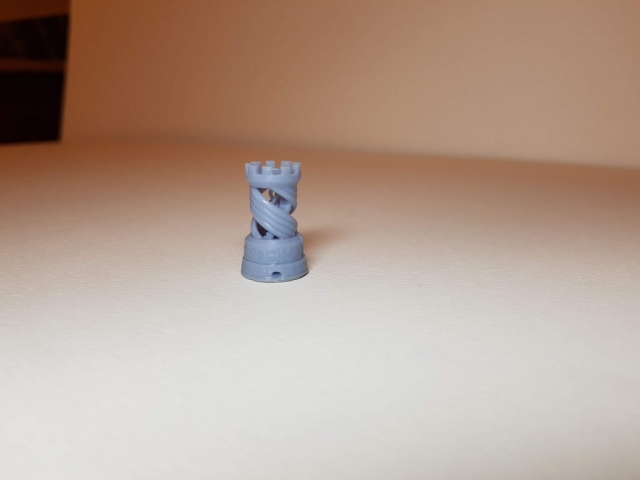 Rook (Chess) - View 1 - 3D Printed By Wright Built on Sparkmaker FHD - Designed by MAKE (Thingiverse)