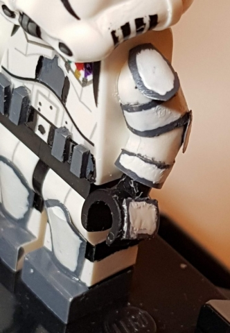 Custom LEGO Clone Troopers - Storm Trooper Arm Closeup - Made by Wright Built - Brickcan 2019