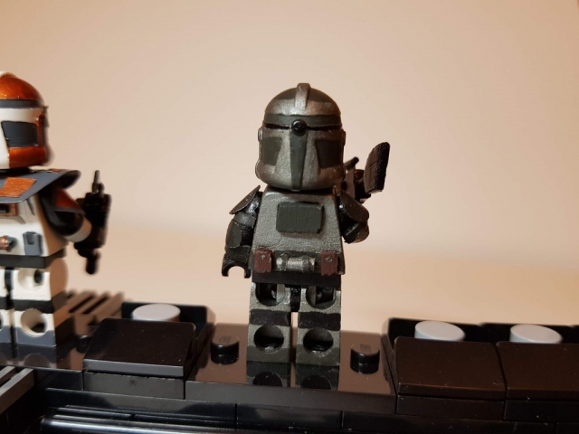 Custom LEGO Clone Troopers - Clone Commander Gree 3 - Made by Wright Built - Brickcan 2019