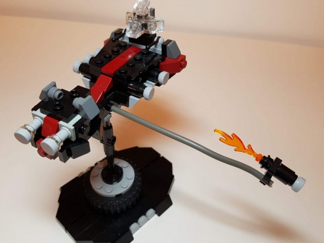 Daedalus IV Assault Ship - LEGO MOC - View 2 - Made by Wright Built - Brickcan 2019