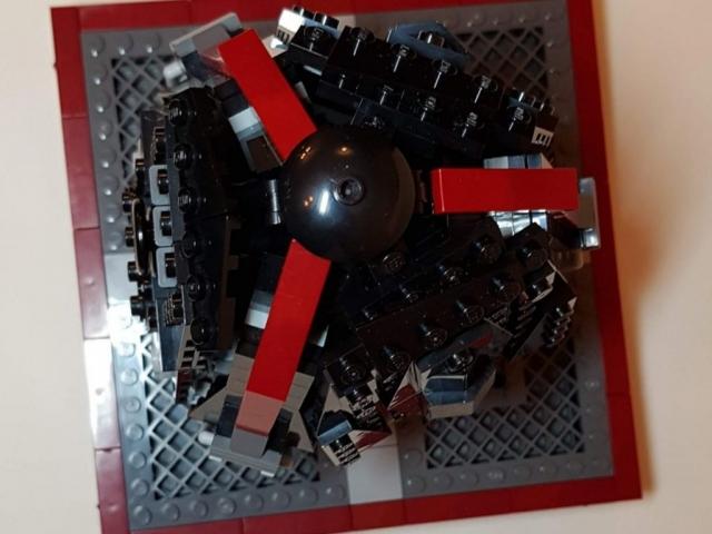 Icarus VI Drop Pod - LEGO MOC - Top View - Made by Wright Built - Brickcan 2019