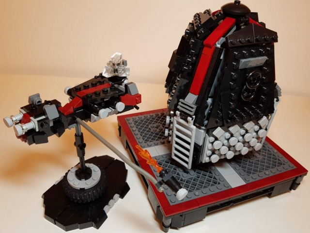 Daedalus IV Assault Ship with Icarus VI Drop Pod - LEGO MOC - Drop Pod Comparison - Made by Wright Built - Brickcan 2019