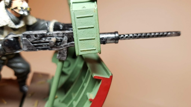 Model of Bandits! 2 O'Clock B17 Waist Gunner (WW2) - View 3 - 120mm Scale - Built By Wright Built - Verlinden Productions