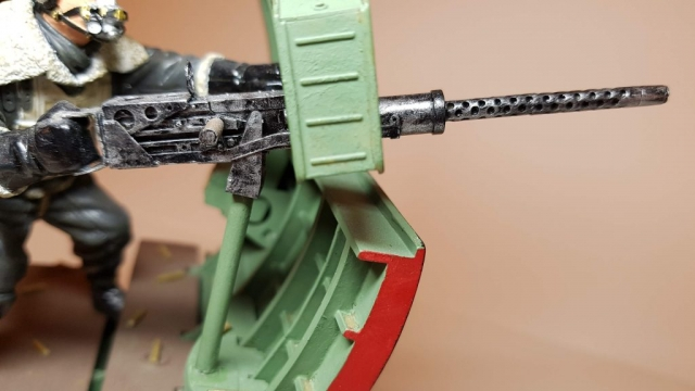 Model of Bandits! 2 O'Clock B17 Waist Gunner (WW2) - View 4 - 120mm Scale - Built By Wright Built - Verlinden Productions