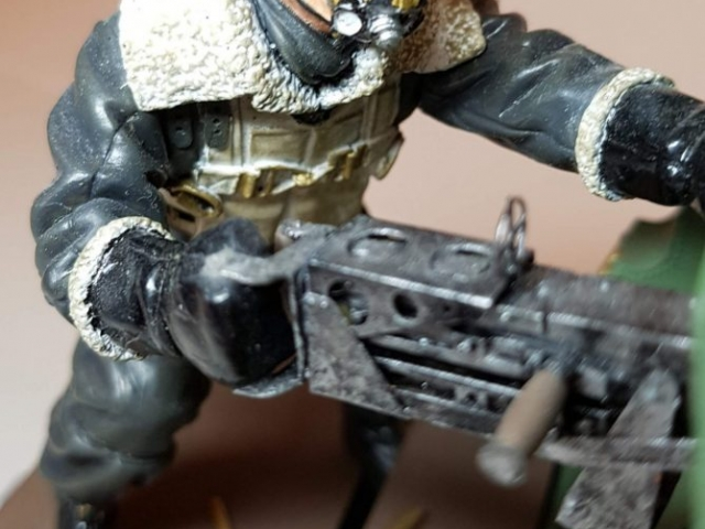 Model of Bandits! 2 O'Clock B17 Waist Gunner (WW2) - View 5 - 120mm Scale - Built By Wright Built - Verlinden Productions