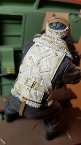 Model of Bandits! 2 O'Clock B17 Waist Gunner (WW2) - View 6 - 120mm Scale - Built By Wright Built - Verlinden Productions