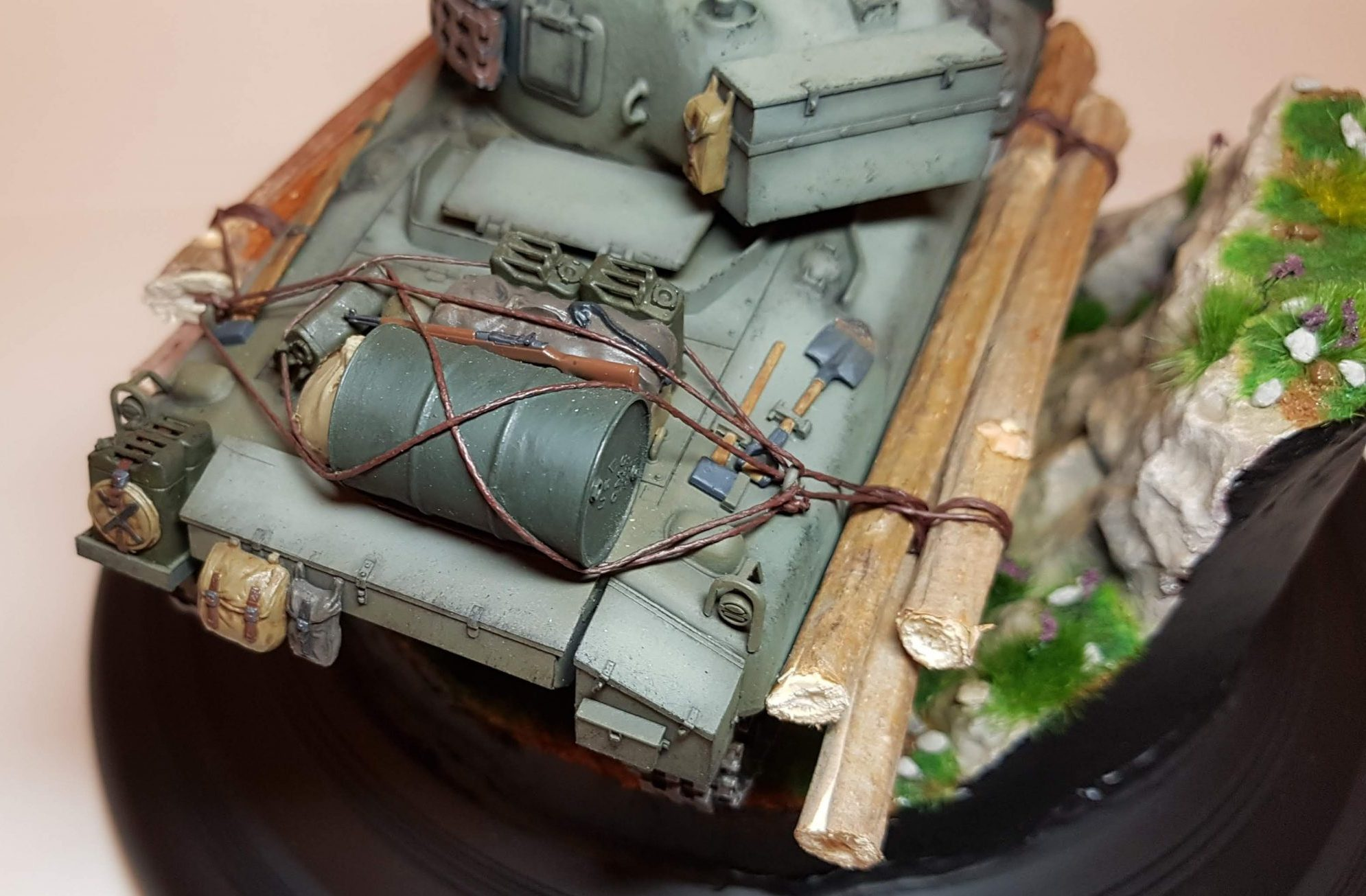Kit-bashed - M4 Sherman (WW2) - Storage Closeup - 1/35 Scale - Built By Wright Built - Tamiya, Italeri, Formations, Others, Sculpted