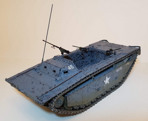LVT-2 Amtrac (WW2) - View 1 - 1/35 Scale - Built By Wright Built - Italeri
