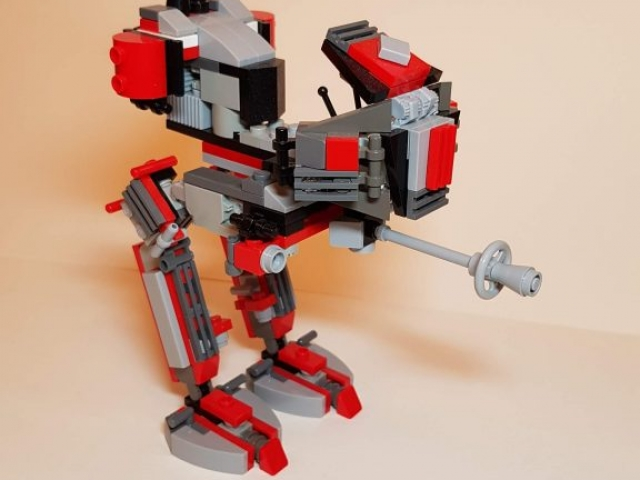 Red Clone AT-RT - LEGO MOC - Made by Wright Built