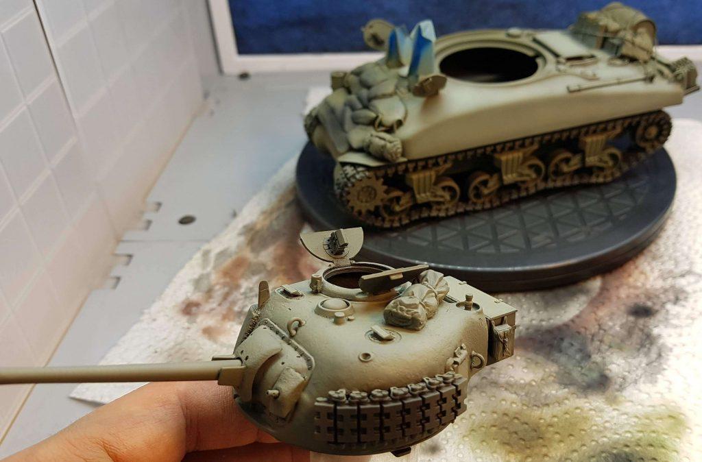 Painted Sherman tank