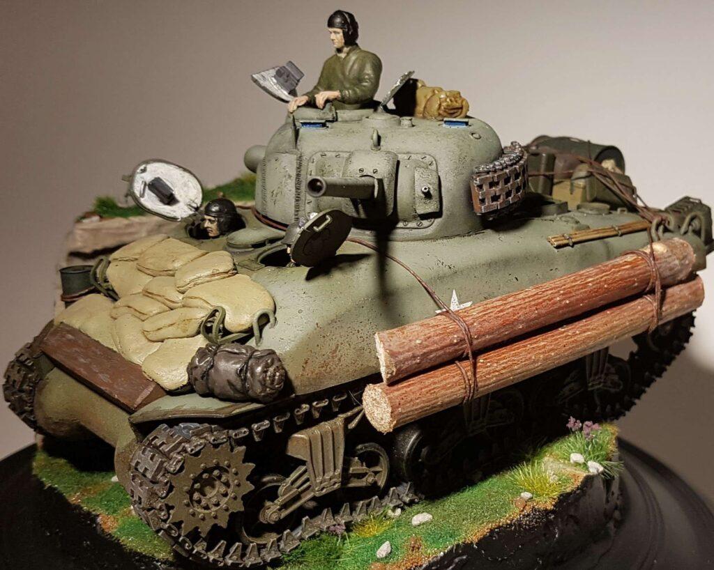 Finished 1/35 Sherman tank model